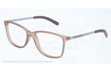 Dolce&Gabbana LIFESTYLE DG5006 Bifocal Prescription Eyeglasses 2620-54 - Demi Transparent Brown Rubber Frame