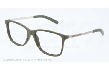 Dolce&Gabbana LIFESTYLE DG5006 Bifocal Prescription Eyeglasses 2777-54 - Green Rubber Frame