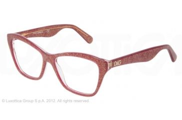 Dolce&Gabbana LIP GLOSS DG3167 Eyeglass Frames 2739-52 - Glitter Bordeaux Frame