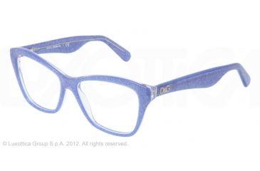 Dolce&Gabbana LIP GLOSS DG3167 Eyeglass Frames 2741-52 - Glitter Blue Frame