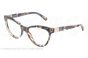 Dolce&Gabbana LOGO PLAQUE DG3169 Eyeglass Frames 2734-51 - Brown Blue Marble Frame