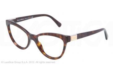 Dolce&Gabbana LOGO PLAQUE DG3169 Eyeglass Frames 502-51 - Havana Frame