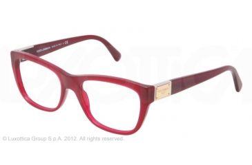 Dolce&Gabbana LOGO PLAQUE DG3171 Eyeglass Frames 2681-52 - Opal Red Frame