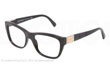 Dolce&Gabbana LOGO PLAQUE DG3171 Eyeglass Frames 501-52 - Black Frame