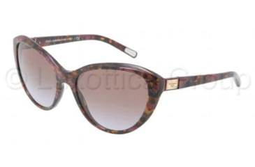 Dolce&Gabbana Logo plaque DG4141 Sunglasses 195968-5818 - Violet Brown Frame, Gradient Violet Lenses
