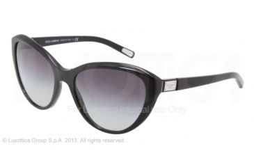 Dolce&Gabbana Logo plaque DG4141 Progressive Prescription Sunglasses DG4141-501-8G-5818 - Lens Diameter 58 mm, Frame Color Shiny Black