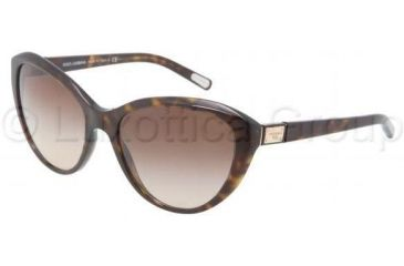 Dolce&Gabbana Logo plaque DG4141 Sunglasses 502/13-5818 - Havana Frame, Brown Gradient Lenses