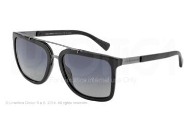 Dolce&Gabbana LOGO PLAQUE DG4219 Sunglasses 501/T3-57 - Black Frame, Polar Grey Gradient Lenses