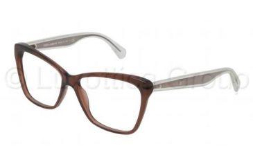 Dolce&Gabbana MAMBO COLLECTION DG3140 Bifocal Prescription Eyeglasses 2542-5214 - Transparent Brown Frame