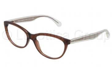 Dolce&Gabbana Mambo collection DG3141 Single Vision Prescription Eyeglasses 2542-5316 - Transparent Brown Frame