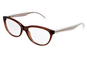 Dolce&Gabbana Mambo collection DG3141 Eyeglass Frames 2542-5516 - Transparent Brown Frame