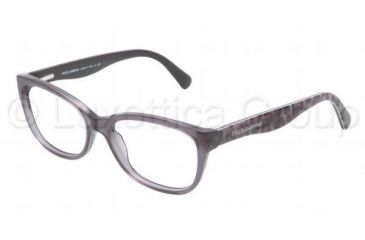 Dolce&Gabbana MATT SILK DG3136 Bifocal Prescription Eyeglasses 1861-5316 - Transparent Gray Frame