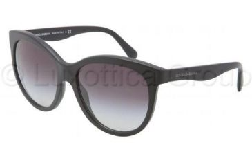 Dolce&Gabbana MATT SILK DG4149 Sunglasses 19348G-5817 - Matte Black Frame, Gray Gradient Lenses