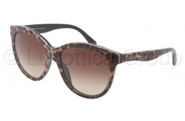 Dolce&Gabbana MATT SILK DG4149 Progressive Prescription Sunglasses DG4149-199513-5817 - Lens Diameter 58 mm, Frame Color Brown Leopard