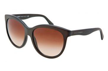 Dolce&Gabbana MATT SILK DG4149 Sunglasses 258213-5817 - Matte Brown Frame, Brown Gradient Lenses