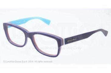 Dolce&Gabbana MULTICOLOR DG3178 Single Vision Prescription Eyeglasses 2769-52 - Blue/multilayer/azure Frame