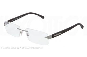 Dolce&Gabbana OVER-MOLDED RUBBER DG1245 Bifocal Prescription Eyeglasses 1209-52 - Gunmetal Frame