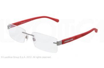 Dolce&Gabbana OVER-MOLDED RUBBER DG1245 Bifocal Prescription Eyeglasses 1212-52 - Gunmetal Frame