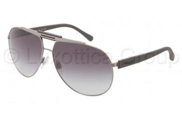 Dolce&Gabbana OVER MOLDED RUBBER DG2119 Sunglasses 1186T3-6212 - Gunmetal Frame, Gray Gradient Lenses