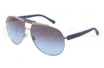 Dolce&Gabbana OVER MOLDED RUBBER DG2119 Sunglasses 11898F-6212 - Gunmetal / Blue Frame, Smoke Gradient Lenses