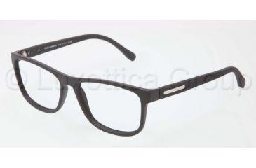 Dolce&Gabbana OVER-MOLDED RUBBER DG5003 Single Vision Prescription Eyeglasses 2616-5415 - Black Frame