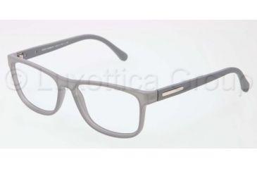 Dolce&Gabbana OVER-MOLDED RUBBER DG5003 Single Vision Prescription Eyeglasses 2617-5415 - Transparent Gray Frame