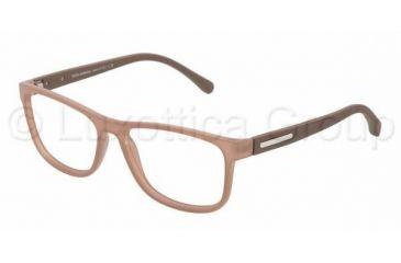 Dolce&Gabbana OVER-MOLDED RUBBER DG5003 Single Vision Prescription Eyeglasses 2620-5415 - Transparent Brown Frame