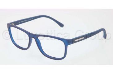 Dolce&Gabbana OVER-MOLDED RUBBER DG5003 Single Vision Prescription Eyeglasses 2692-5415 - Transparent Blue Demo Lens Frame