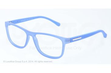 Dolce&Gabbana OVER-MOLDED RUBBER DG5003 Single Vision Prescription Eyeglasses 2784-54 - Azure Demi Transparent Frame