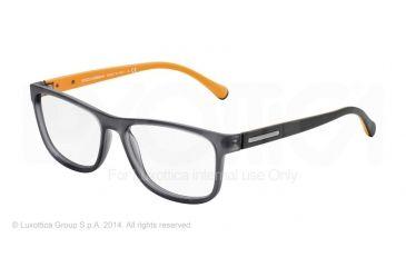 Dolce&Gabbana OVER-MOLDED RUBBER DG5003 Single Vision Prescription Eyeglasses 2813-54 - Grey Demi Transp Rubber Frame