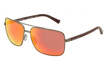 6ed00aecaec Dolce Gabbana RUBBER EVOLUTION DG2142 Sunglasses 12576Q-62 - Matte Gunmetal  Frame