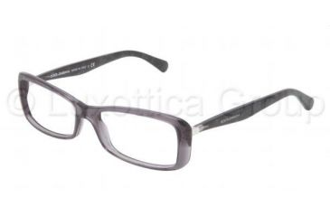 Dolce&Gabbana Sensual&Feminine DG3139 Single Vision Prescription Eyeglasses 1861-5216 - Transparent Gray Frame