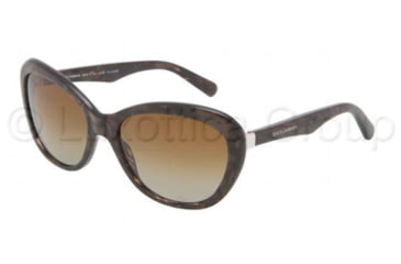 Dolce&Gabbana Sensual&Feminine DG4150 Sunglasses 2589T5-5918 - Gauze Brown Frame, Polarized Brown Gradient Lenses