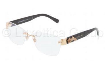 Dolce&Gabbana SICILIAN BAROQUE DG1241 Eyeglass Frames 1205-5415 - Gold Frame