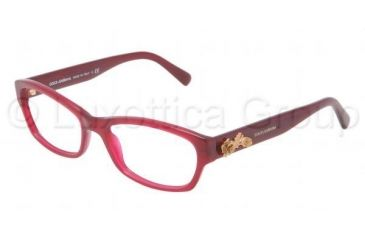 Dolce&Gabbana SICILIAN BAROQUE DG3150 Eyeglass Frames 2681-5217 - Opal Red Frame, Demo Lens Lenses