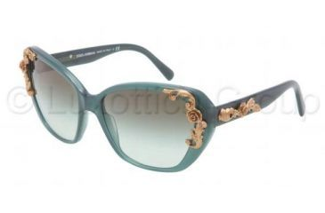 Dolce&Gabbana SICILIAN BAROQUE DG4167 Bifocal Prescription Sunglasses DG4167-26808E-5917 - Lens Diameter 59 mm, Frame Color Opal Green