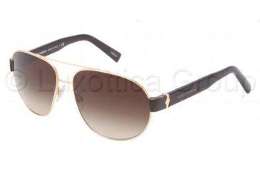 Dolce&Gabbana SICILIAN HINGE DG2117 Sunglasses 02/13-6113 - Gold Frame, Brown Gradient Lenses