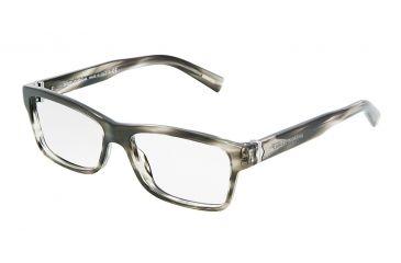 Dolce&Gabbana SICILIAN HINGE DG3129 Eyeglass Frames 2596-5315 - Striped Gray Demo Lens Frame