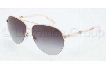 Dolce&Gabbana SICILY DG2115 Sunglasses 488/8G-5813 - Pale Gold Frame, Gray Gradient Lenses