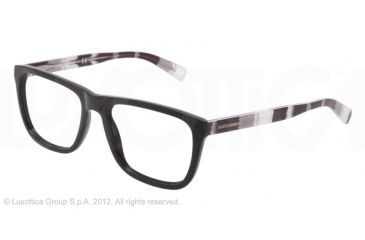 Dolce&Gabbana STRIPES SPECIAL PROJECT DG3161P Eyeglass Frames 2712-52 - Black Frame, Demo Lens Lenses