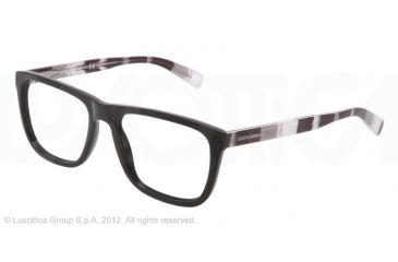 a466b207eb5d Dolce Gabbana STRIPES SPECIAL PROJECT DG3161P Single Vision Prescription  Eyeglasses 2712-52 - Black Frame