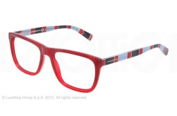 Dolce&Gabbana STRIPES SPECIAL PROJECT DG3161P Eyeglass Frames 2714-52 - Red Gradient Frame, Demo Lens Lenses