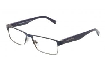 5942864accf0 Dolce Gabbana TAILORING DG1232 Progressive Prescription Eyeglasses  1158-5216 - Gunmetal   Blue Frame