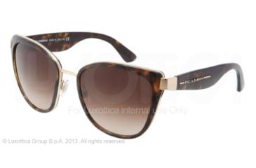 Dolce&Gabbana TRANSPARENCIES DG2107 Single Vision Prescription Sunglasses DG2107-02-13-5719 - Frame Color Gold, Lens Diameter 57 mm