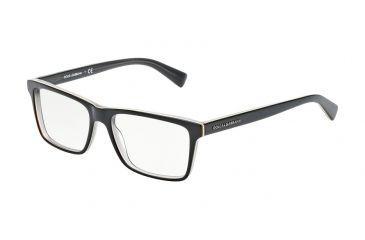 a8103583ddba Dolce&Gabbana URBAN DG3207 Bifocal Prescription Eyeglasses 1871-53 - Top  Black On Grey Frame