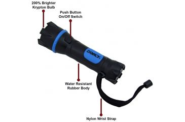 Dorcy 2AA Rubber / Steel Light w/ H.D. Batteries 41-2950