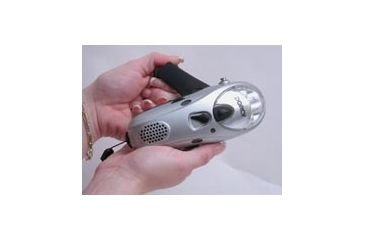 Dorcy 41-4274 3 LED Dynamo AM/FM Radio Flashlight w/ Cell Phone Charger