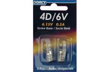 Dorcy 6V/4D- 6.15V 0.5A Screw Base Bulb - 2 Pk 41-1655