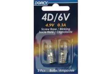 Dorcy 6V/4D- 4.9V 0.3A Screw Base Blinking Bulb - 2Pk 41-1656