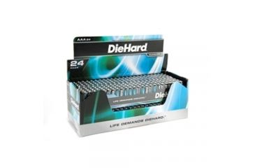 Dorcy Diehard Alkaline Batteries 24AA Batteries Bandolier, Case of 16